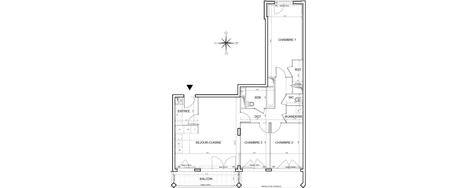 Appartement T4 de 89,00 m2 à Bobigny Centre