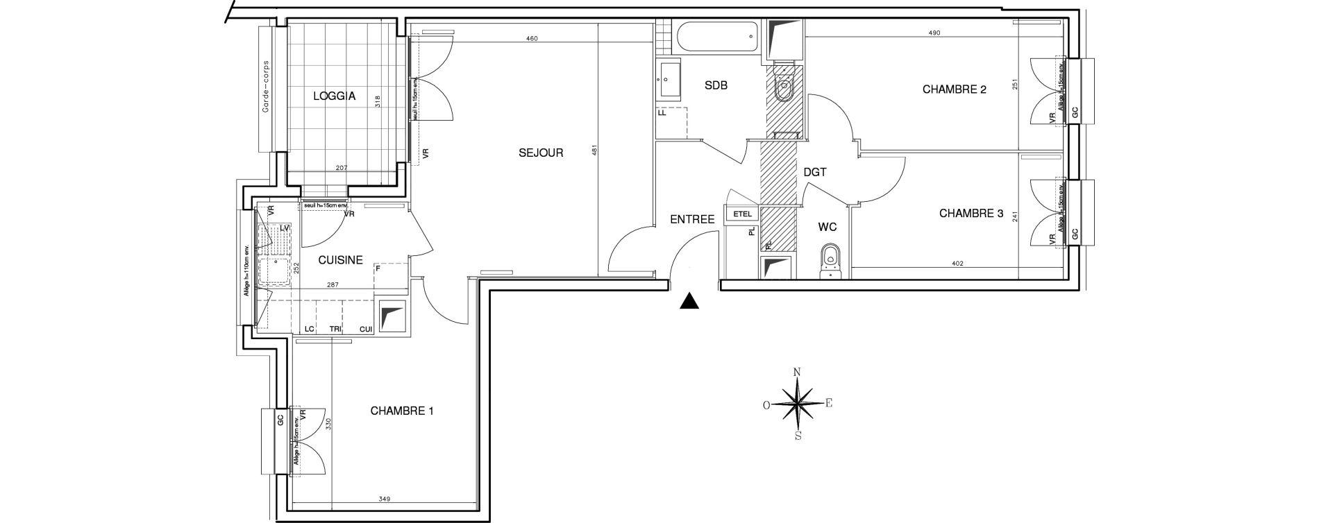 Appartement T4 de 78,13 m2 à Bobigny Centre