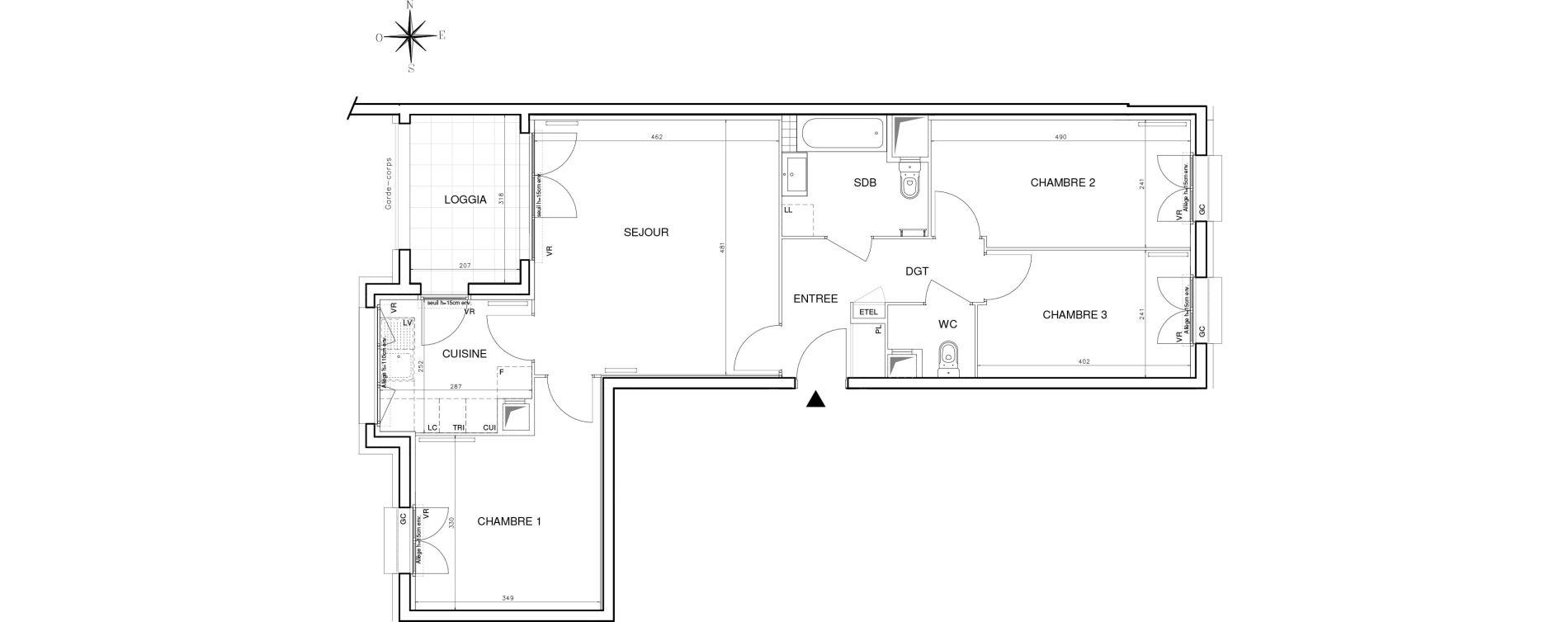 Appartement T4 de 77,71 m2 à Bobigny Centre