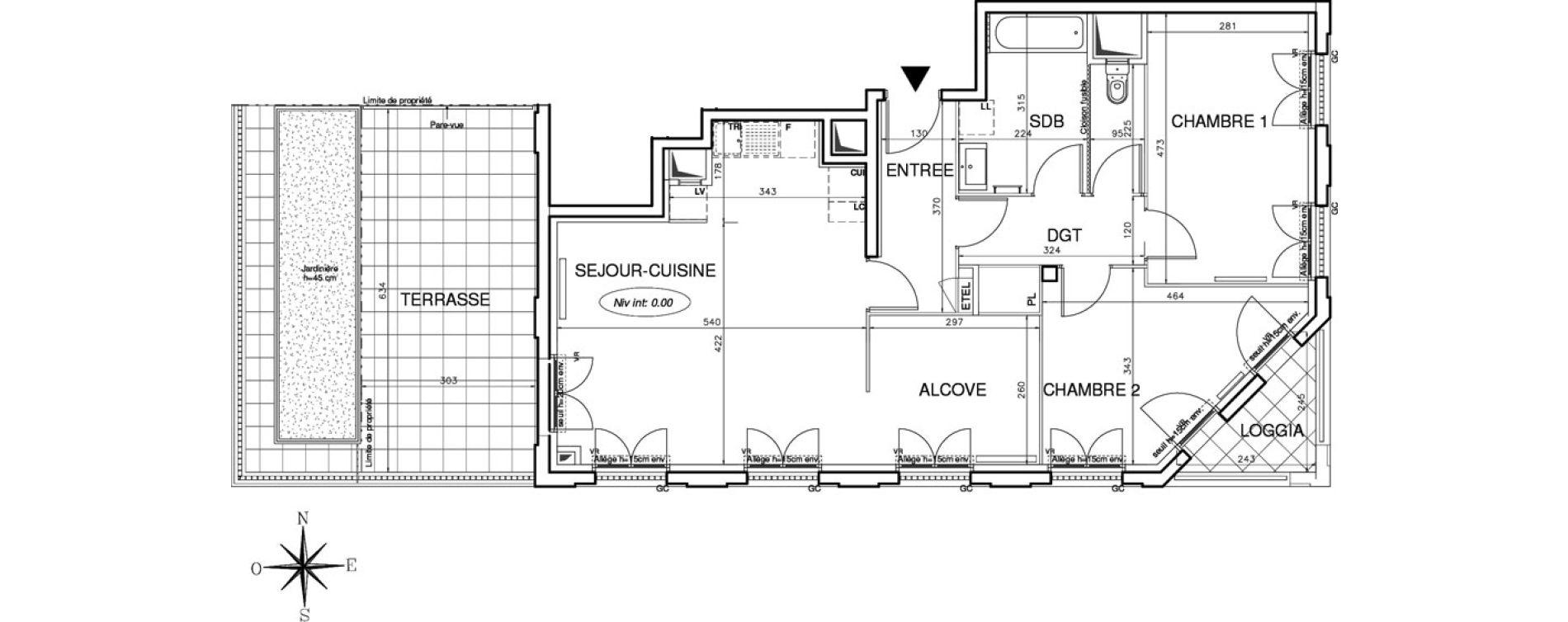 Appartement T3 de 78,03 m2 à Bobigny Centre