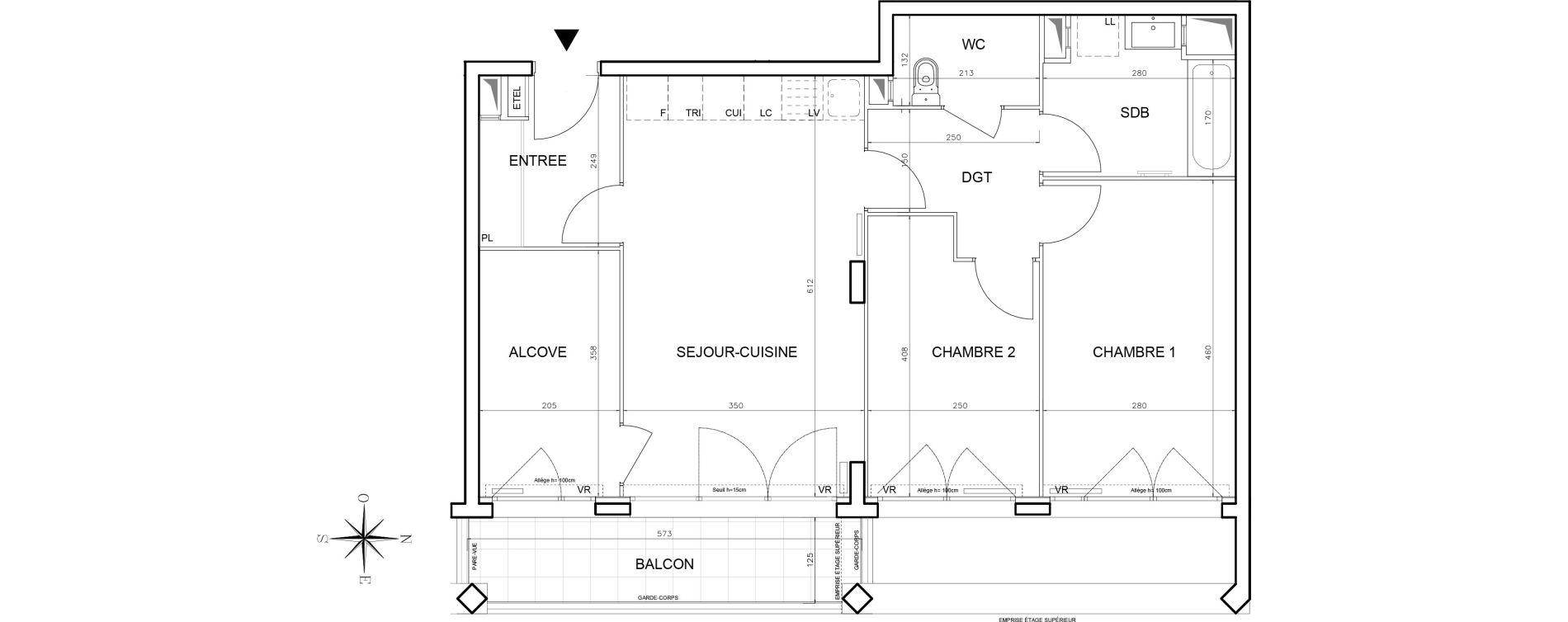 Appartement T3 de 68,51 m2 à Bobigny Centre