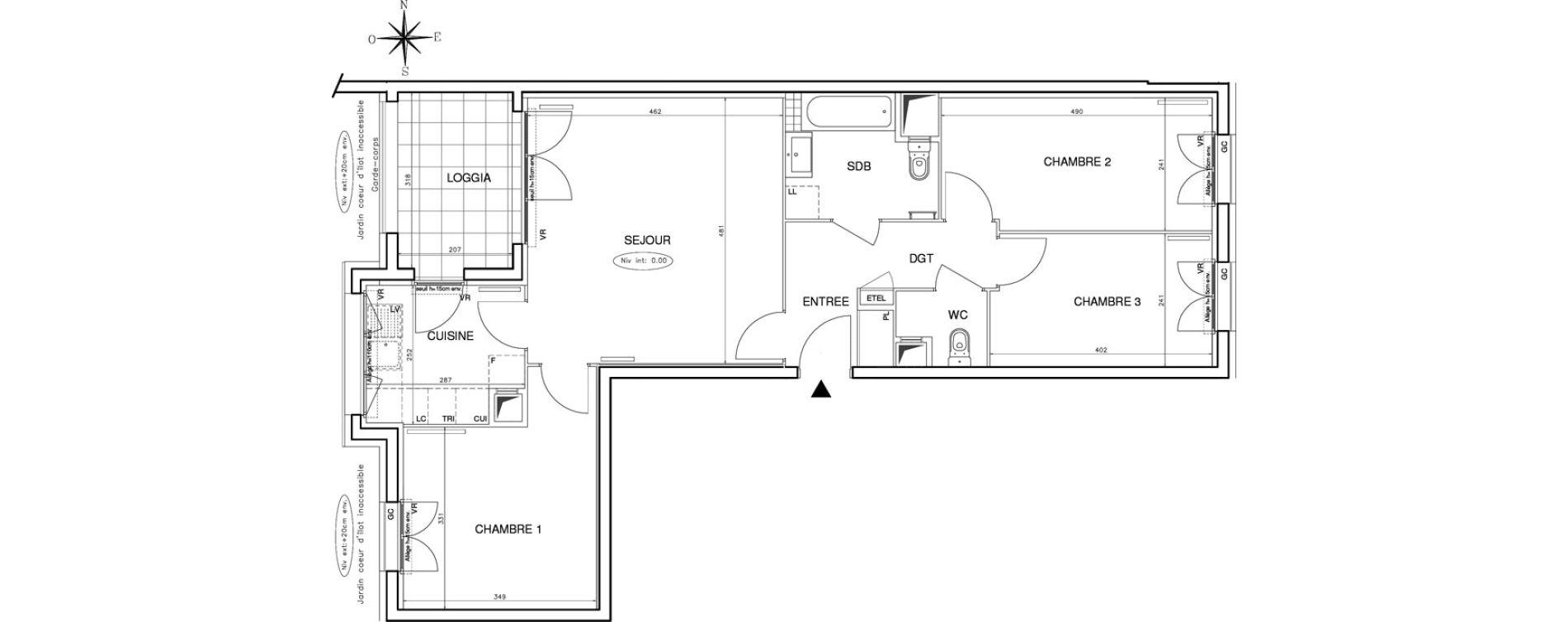 Appartement T4 de 77,73 m2 à Bobigny Centre