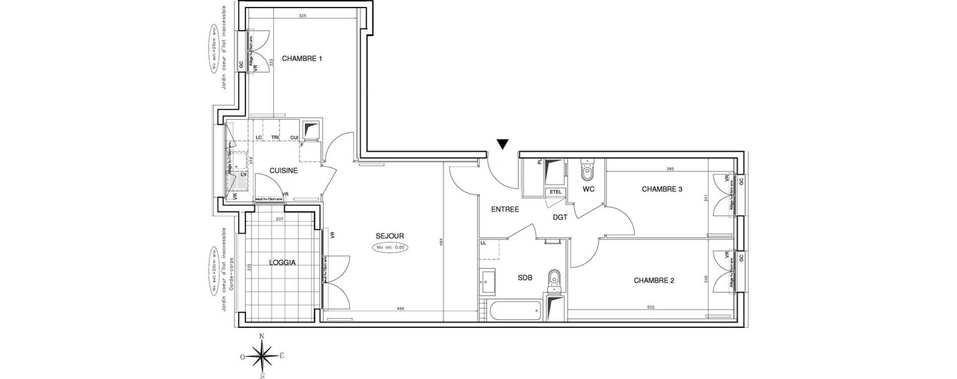 Appartement T4 de 76,71 m2 à Bobigny Centre