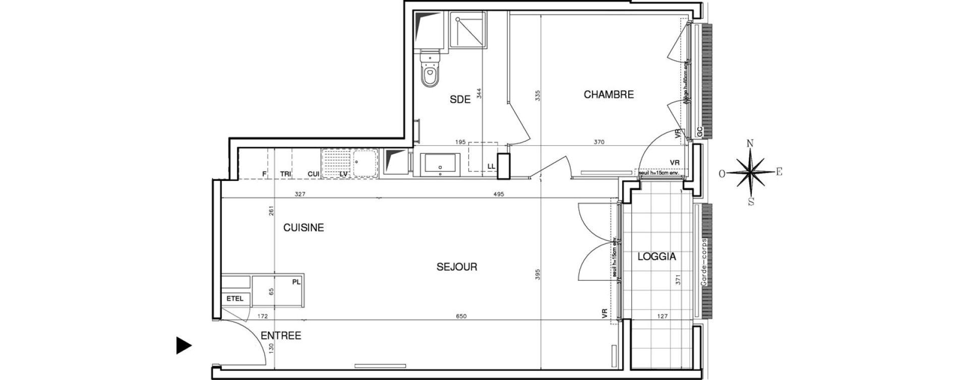 Appartement T2 de 52,20 m2 à Bobigny Centre