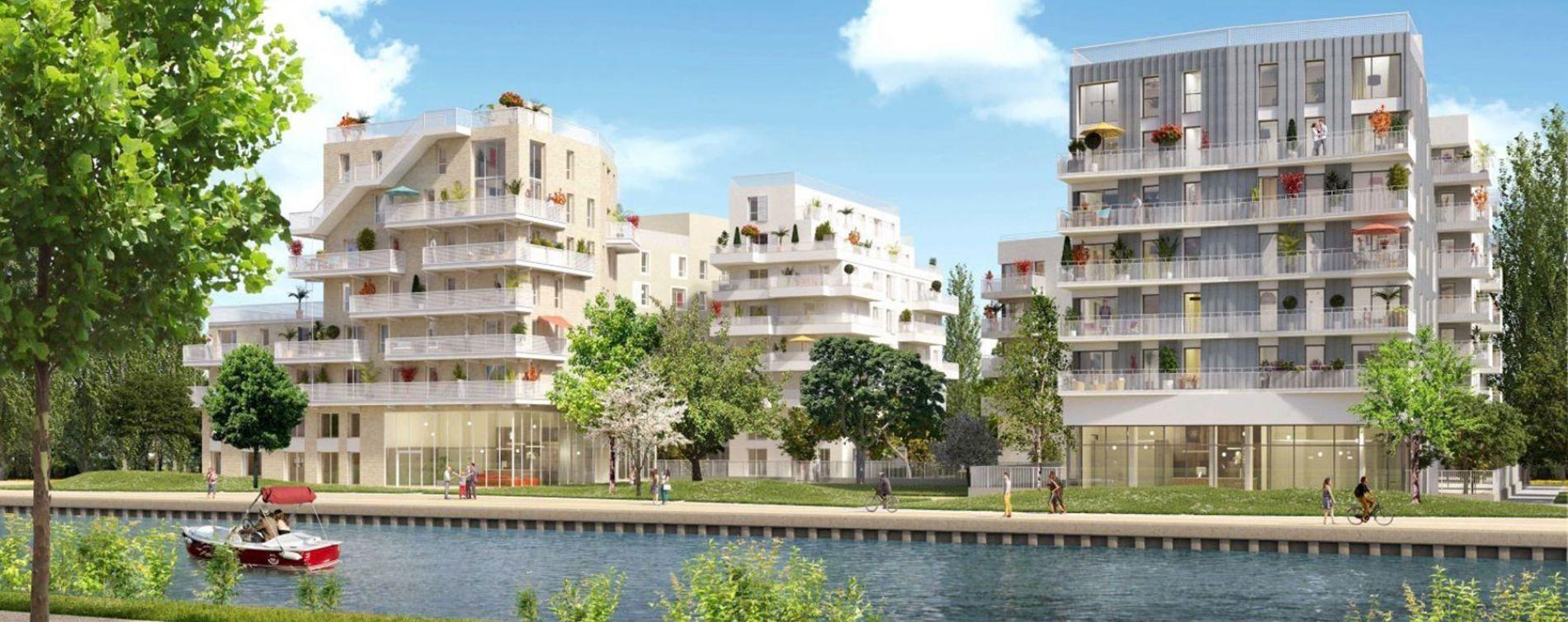 Bondy programme immobilier neuve « Canal Horizon »