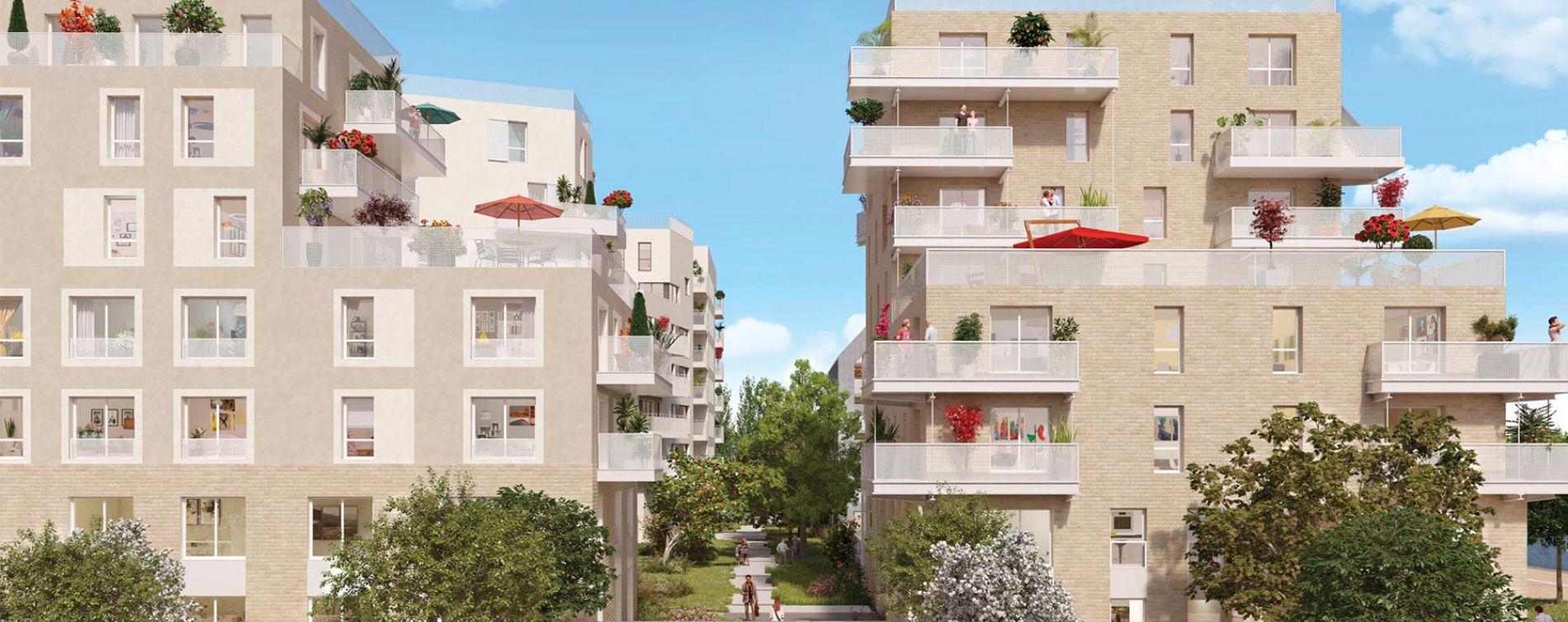 Bondy programme immobilier neuve « Canal Horizon »  (2)