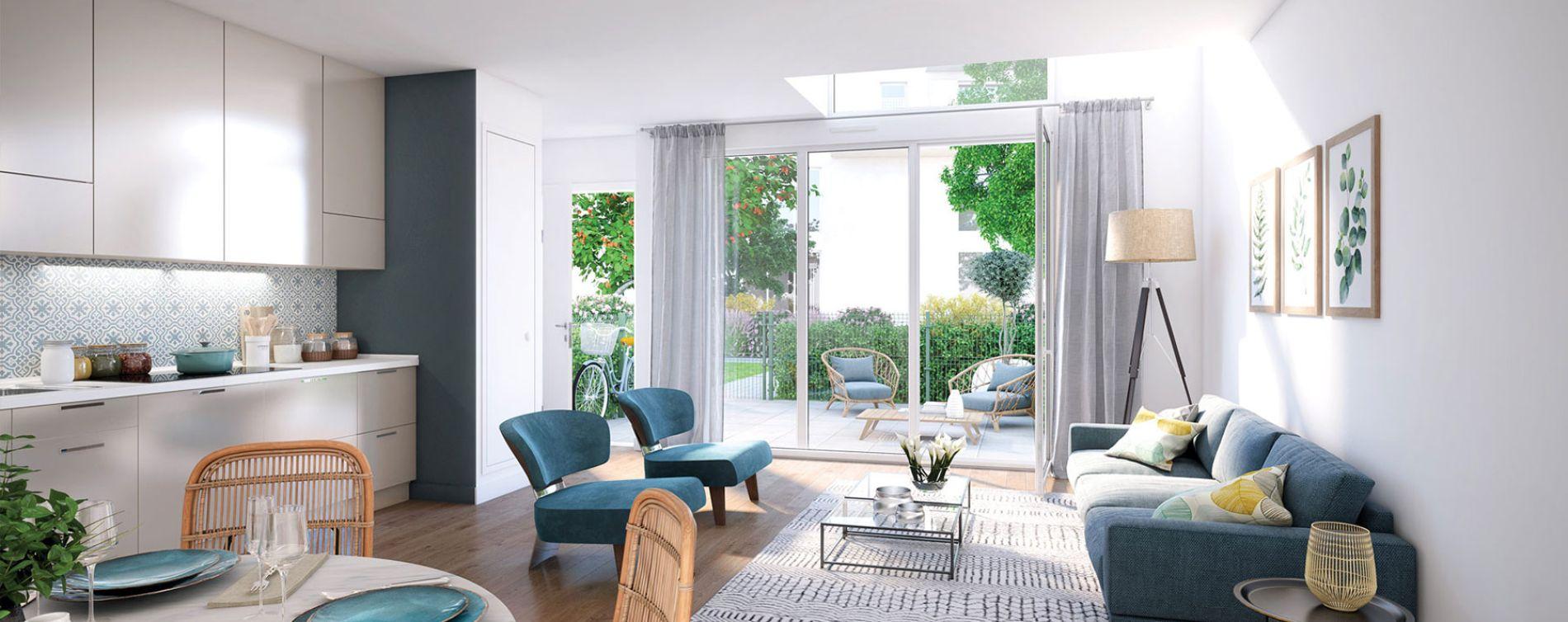 Bondy programme immobilier neuve « Canal Horizon »  (4)