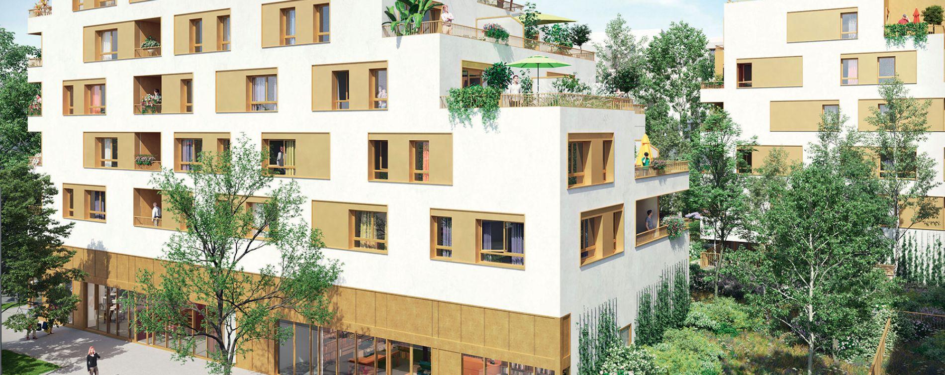 Bondy : programme immobilier neuve « Les Terrasses du Canal » en Loi Pinel