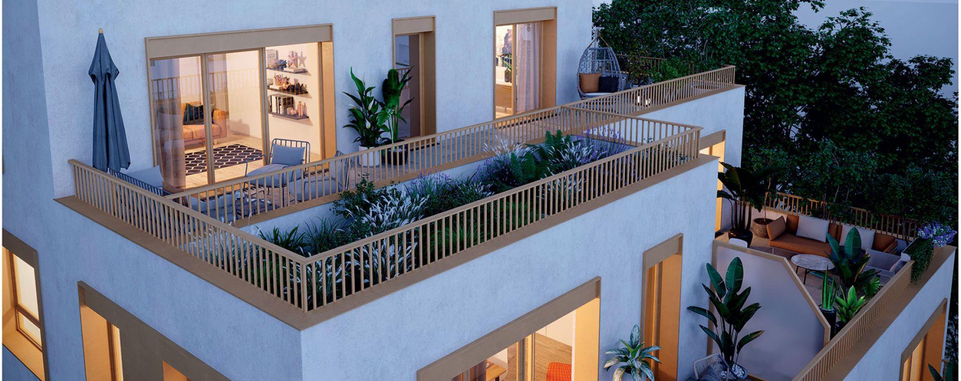 Bondy : programme immobilier neuve « Les Terrasses du Canal » en Loi Pinel (4)