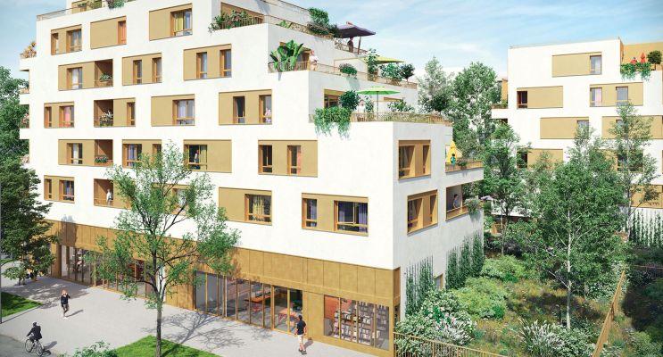 Bondy : programme immobilier neuf « Les Terrasses du Canal » en Loi Pinel