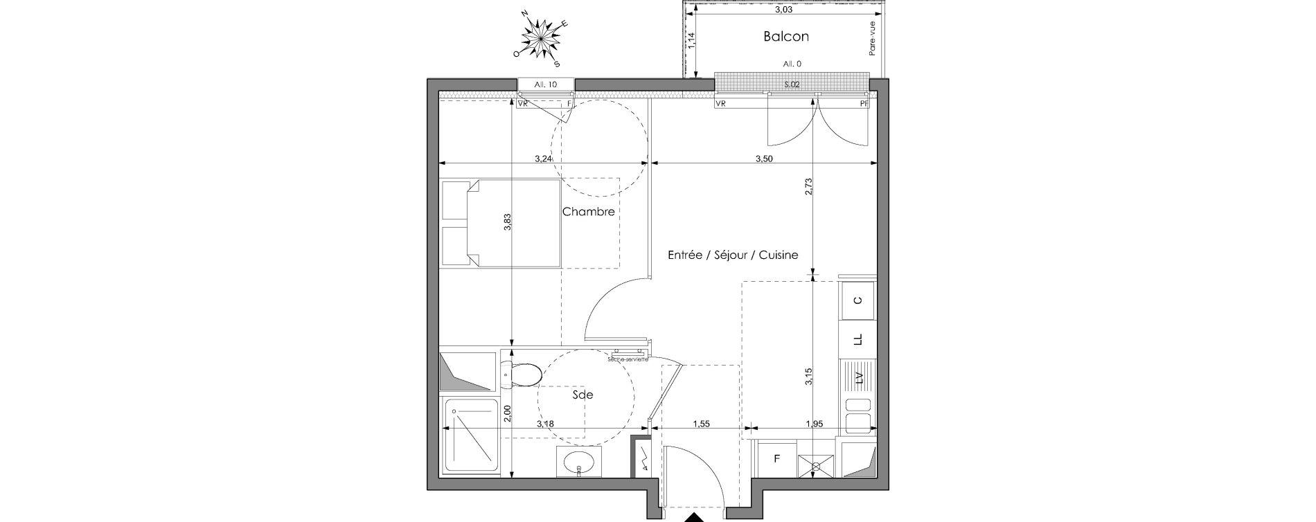 Plan T2 neuf à Clichy-sous-Bois de