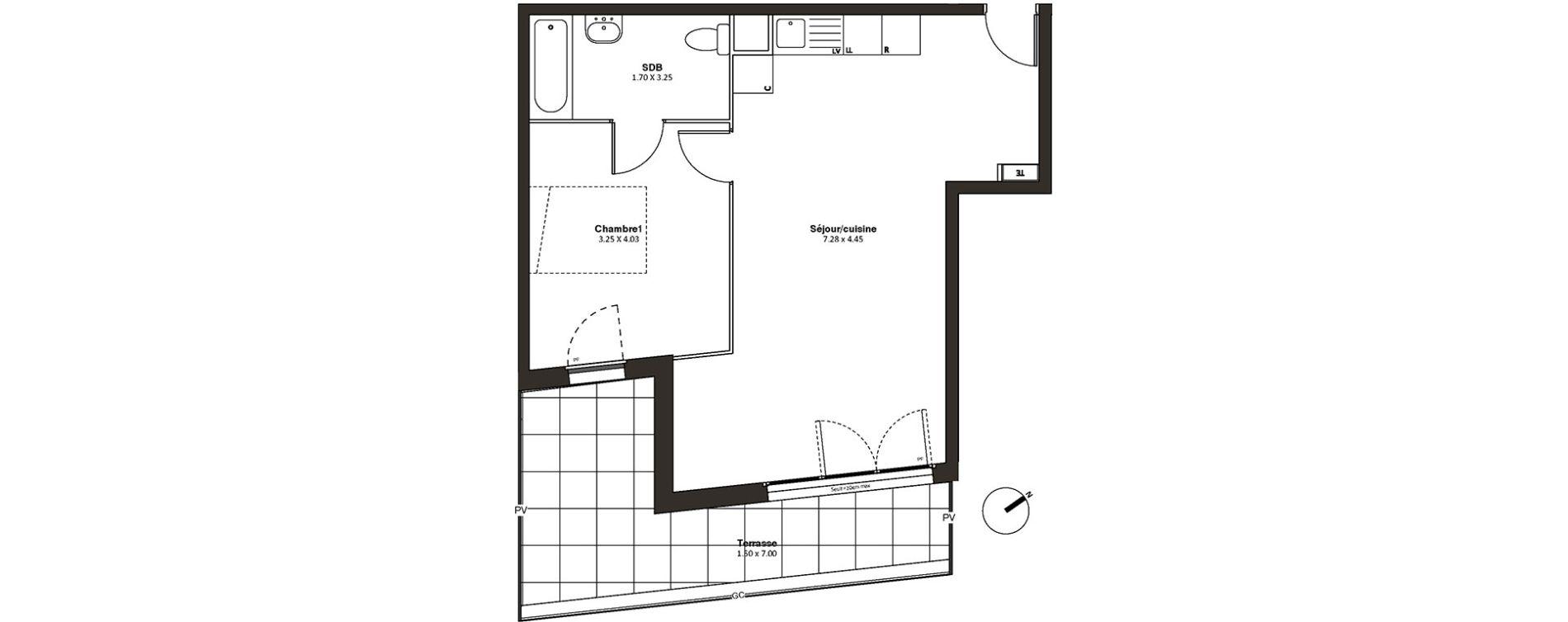 Appartement T2 de 49,57 m2 à Drancy L'economie