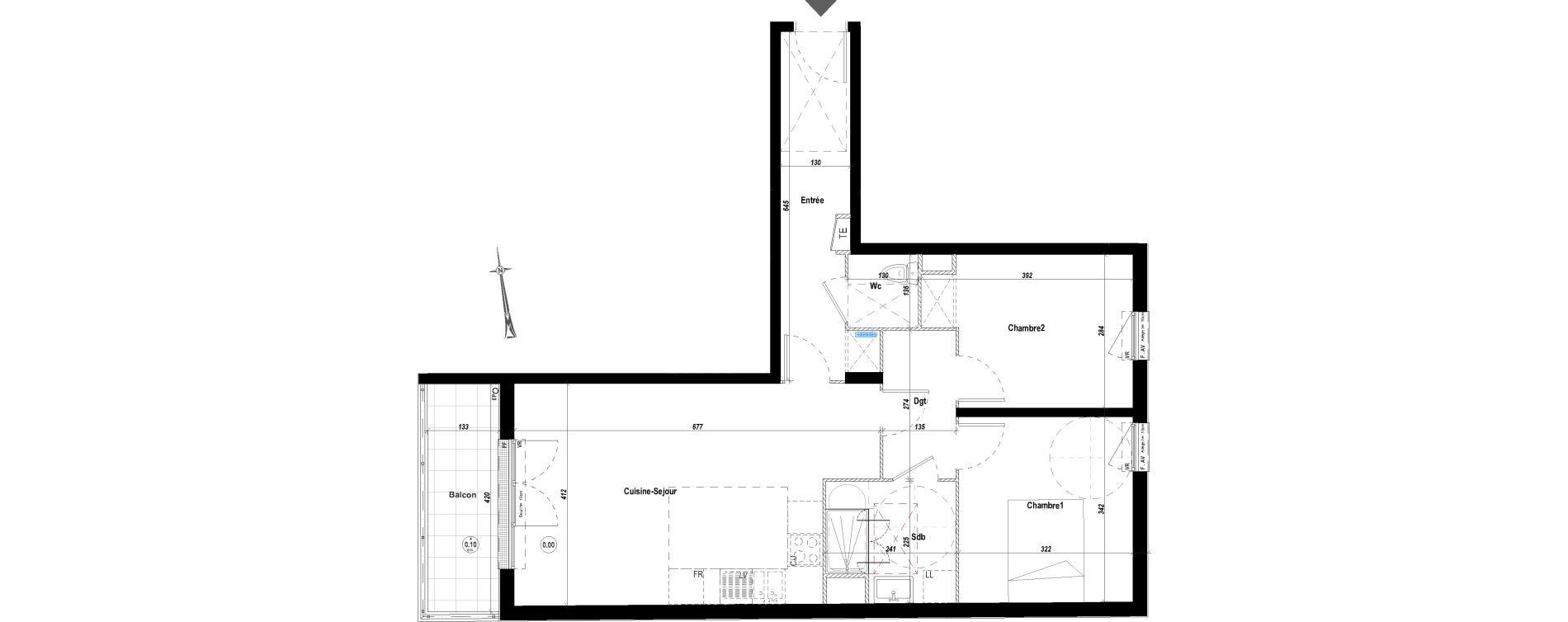 Appartement T3 de 65,13 m2 à Drancy Le petit drancy