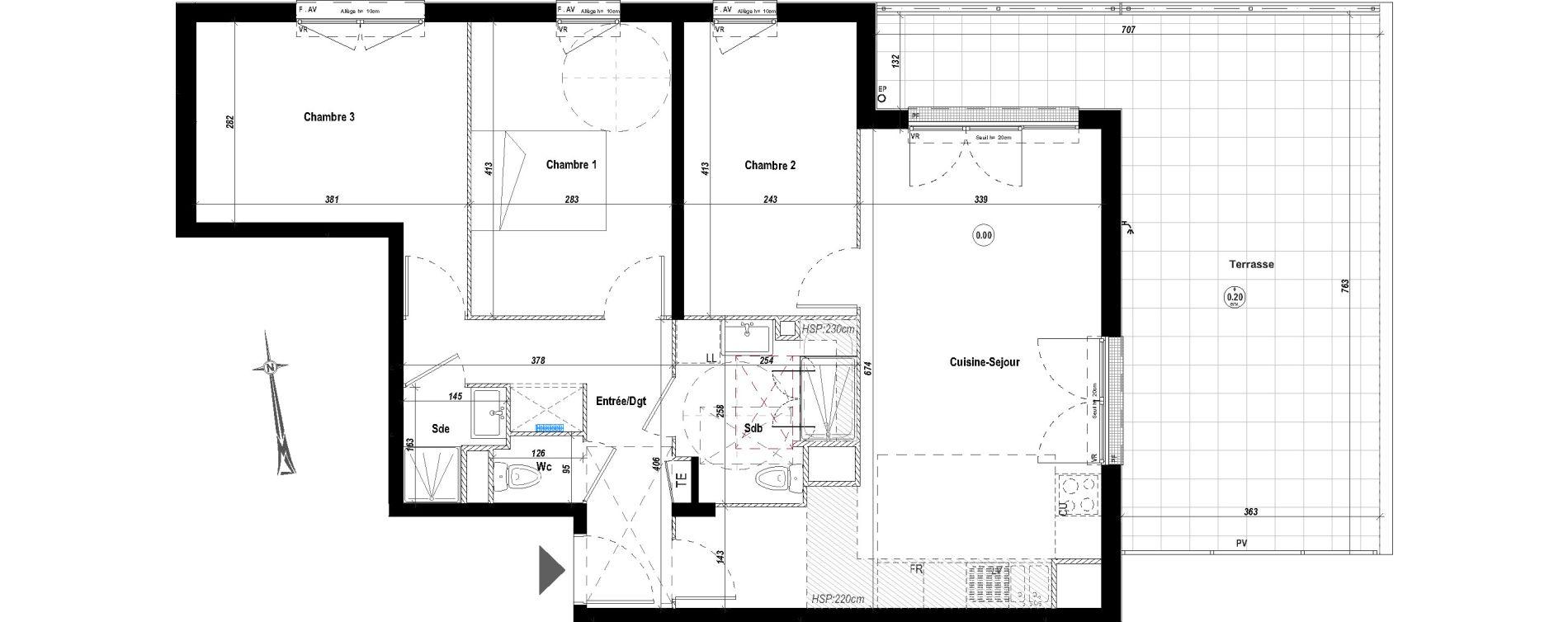 Appartement T4 de 76,35 m2 à Drancy Le petit drancy