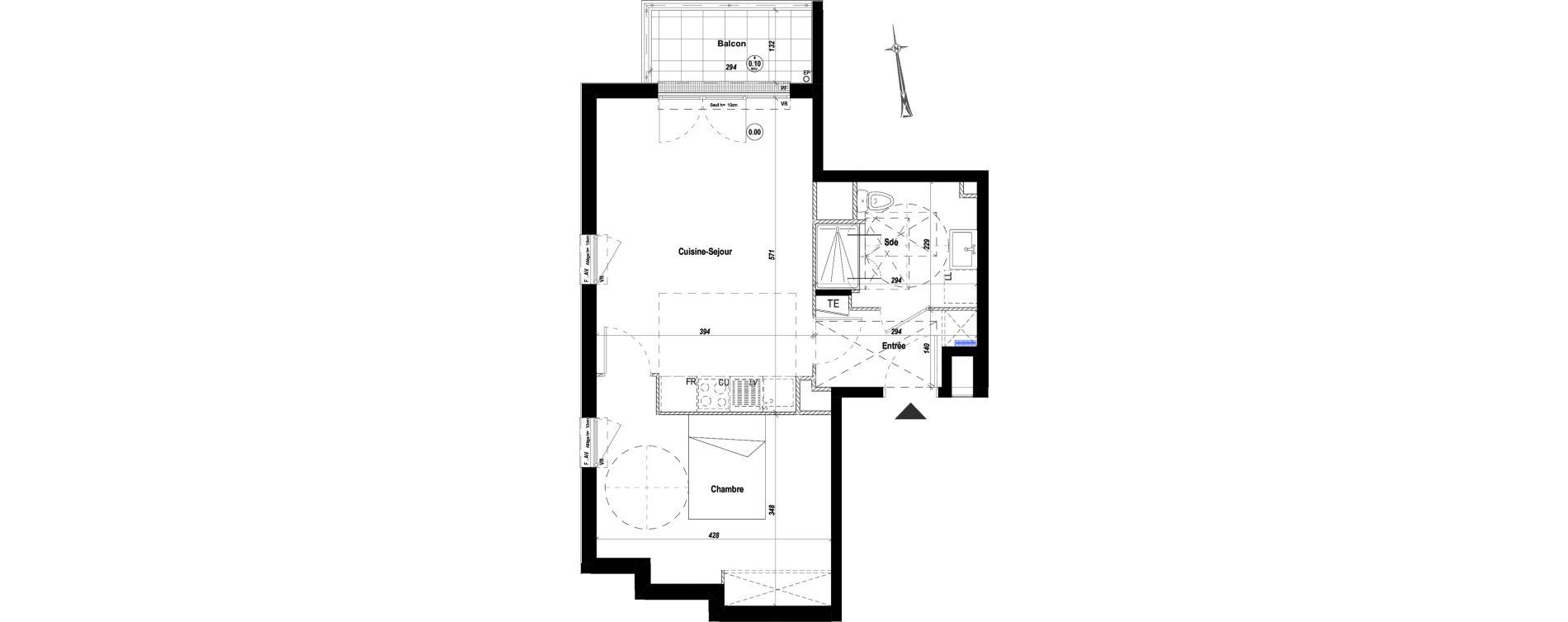 Appartement T2 de 45,26 m2 à Drancy Le petit drancy