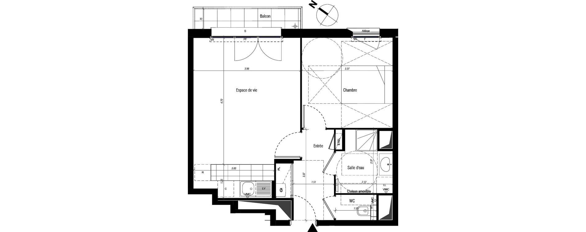 Appartement T2 de 44,40 m2 à Drancy Centre