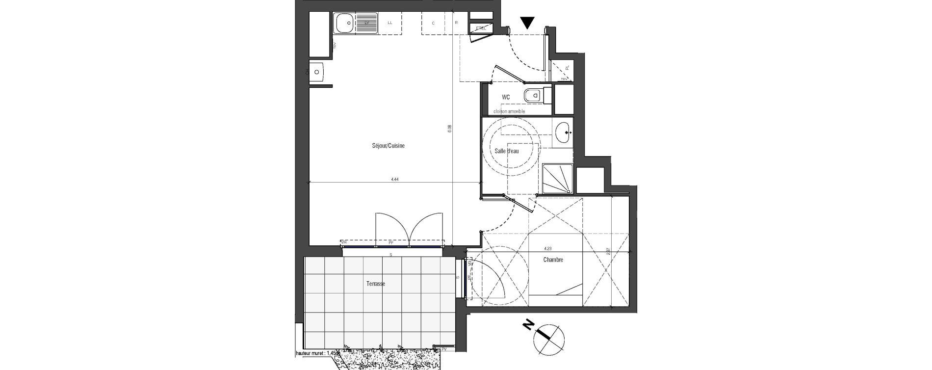 Appartement T2 de 43,29 m2 à Drancy Centre