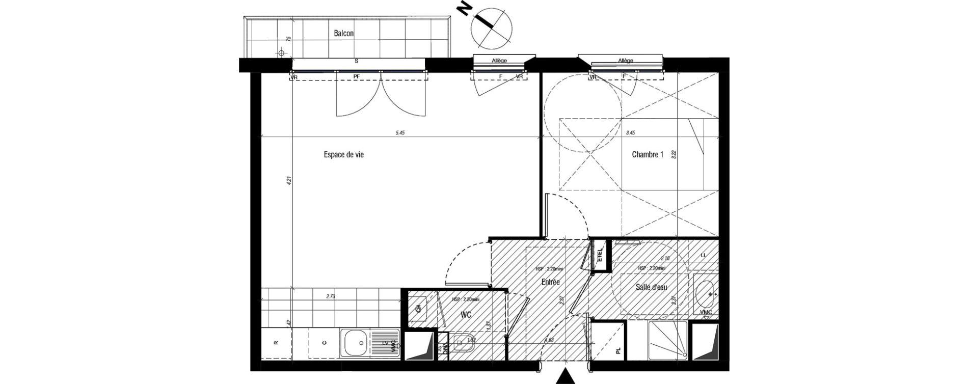 Appartement T2 de 48,25 m2 à Drancy Centre