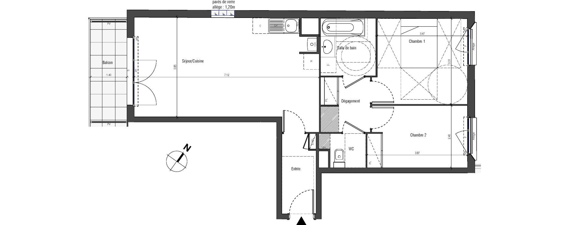 Appartement T3 de 62,91 m2 à Drancy Centre