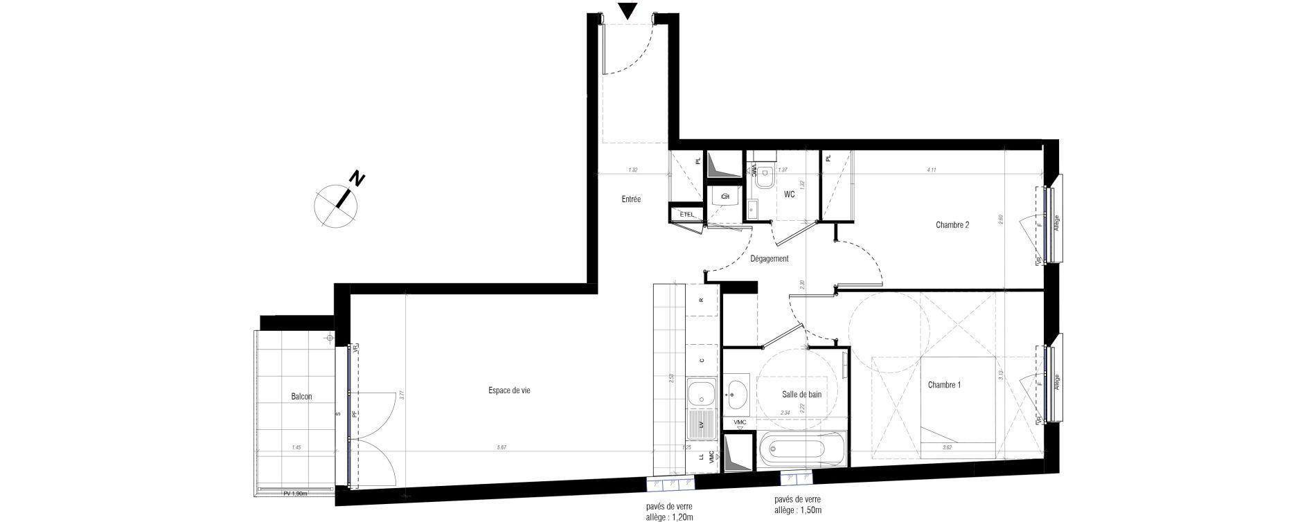 Appartement T3 de 66,85 m2 à Drancy Centre