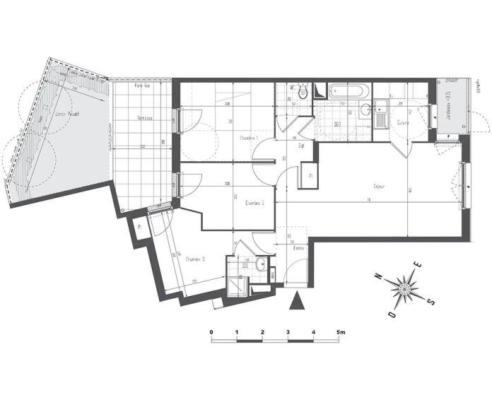 Appartement t4 drancy n 960 sud est programme for Centre des arts shawinigan piscine