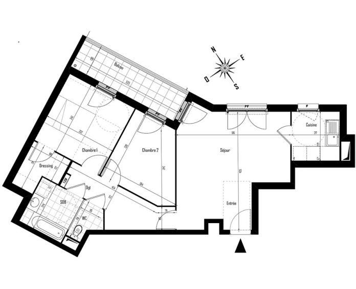 Appartement t3 drancy n 126 nord est programme for Centre des arts shawinigan piscine