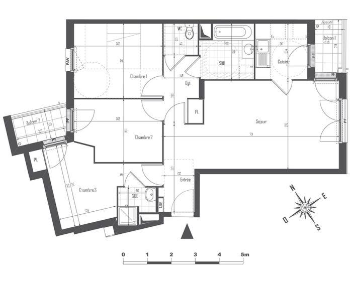 Appartement t4 drancy n 838 est programme neuf for Centre des arts shawinigan piscine