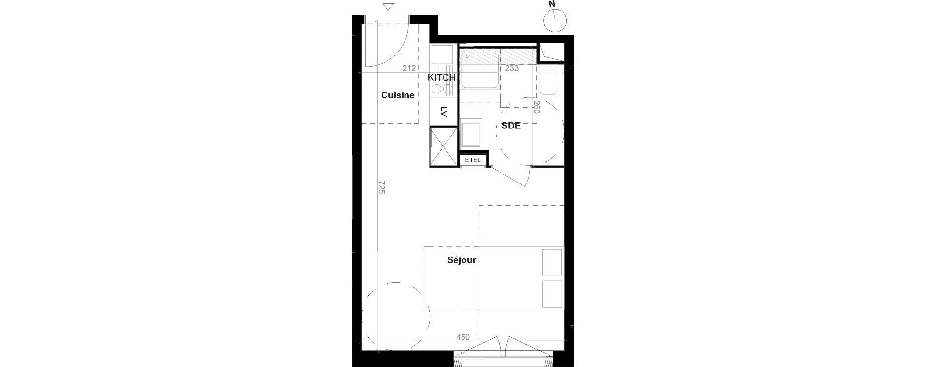 Appartement T1 de 30,30 m2 à Épinay-Sur-Seine Centre