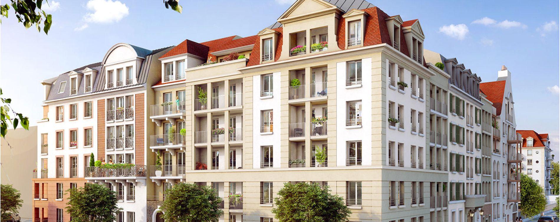 Le Blanc-Mesnil : programme immobilier neuve « Domaine de la Reine - Le Clos du Prieuré » en Loi Pinel