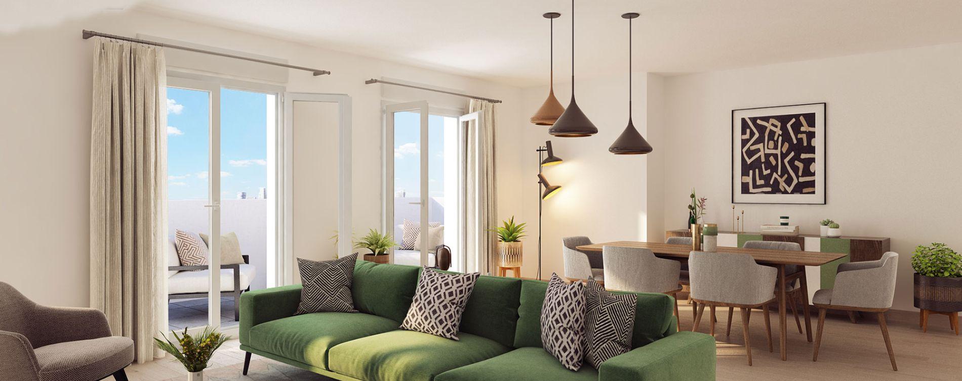 Le Blanc-Mesnil : programme immobilier neuve « Domaine de la Reine - Le Clos du Prieuré » en Loi Pinel (2)