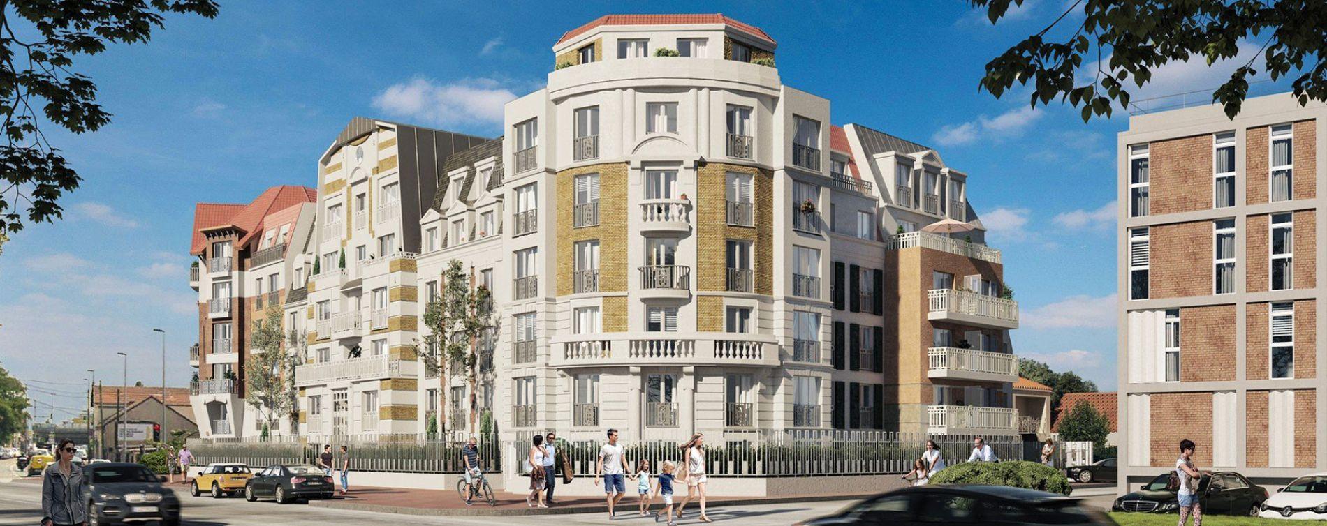 Le Blanc-Mesnil : programme immobilier neuve « Le Domaine du Mesnil » en Loi Pinel (2)