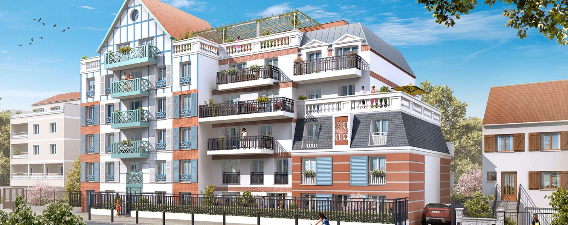 Le Blanc-Mesnil : programme immobilier neuve « Résidence du Gué du Coudray » (2)