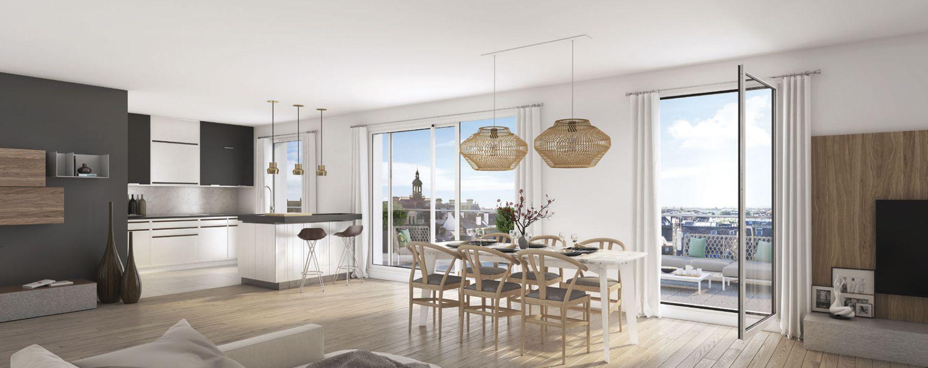 Le Bourget : programme immobilier neuve « L'Esprit B. » en Loi Pinel (2)