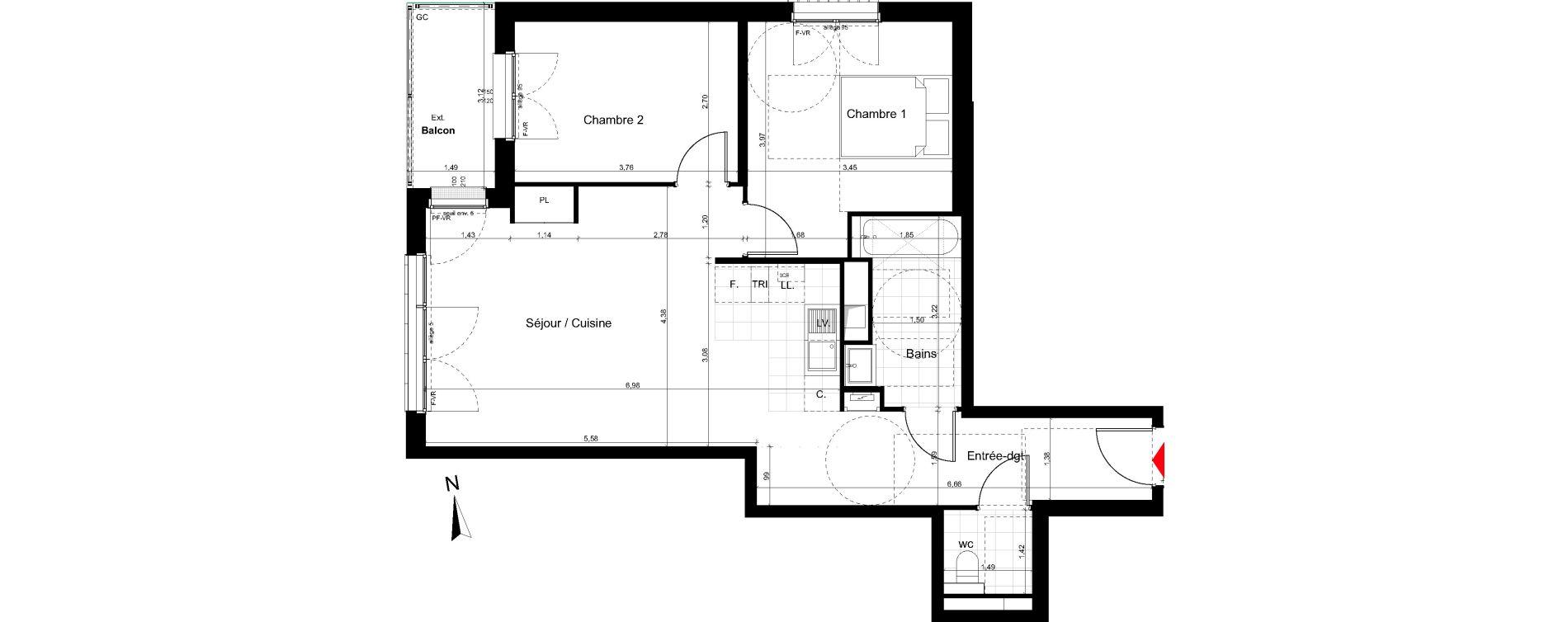 Appartement T3 de 67,14 m2 au Pré-Saint-Gervais Le pre st gervais
