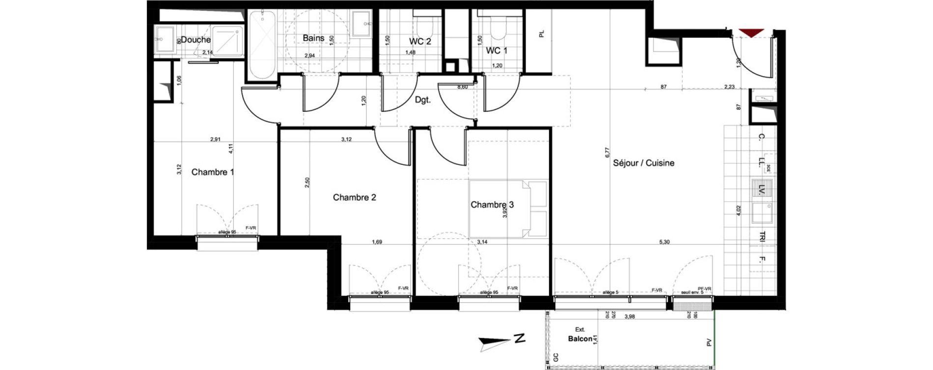 Appartement T4 de 85,18 m2 au Pré-Saint-Gervais Le pre st gervais