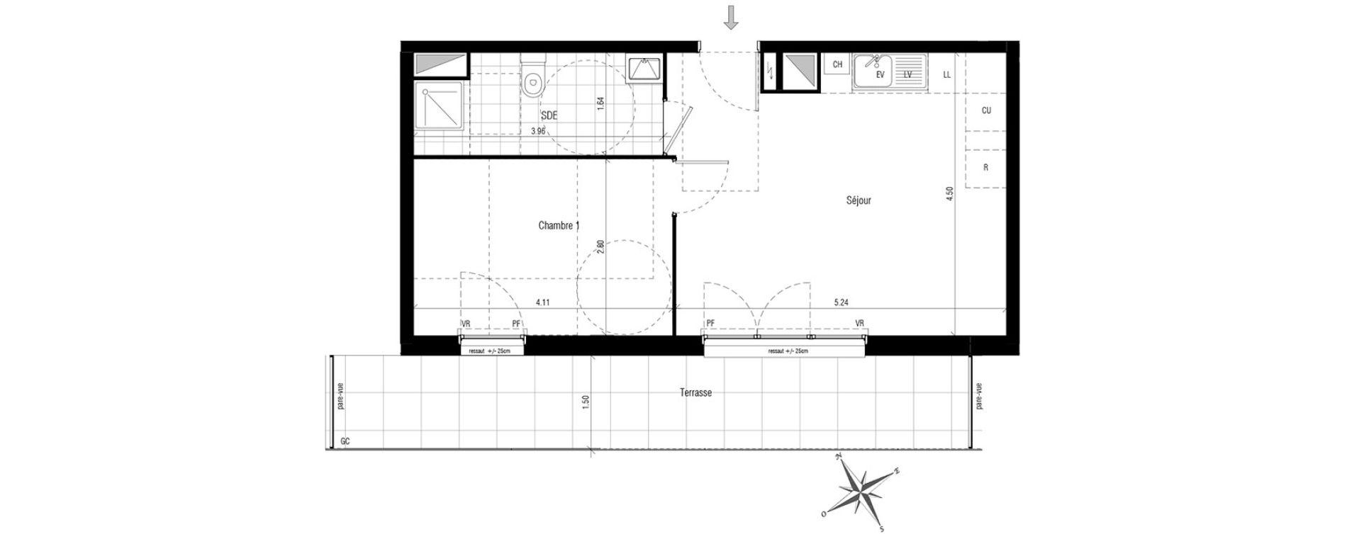 appartement t2 les pavillons sous bois n 396 s. Black Bedroom Furniture Sets. Home Design Ideas