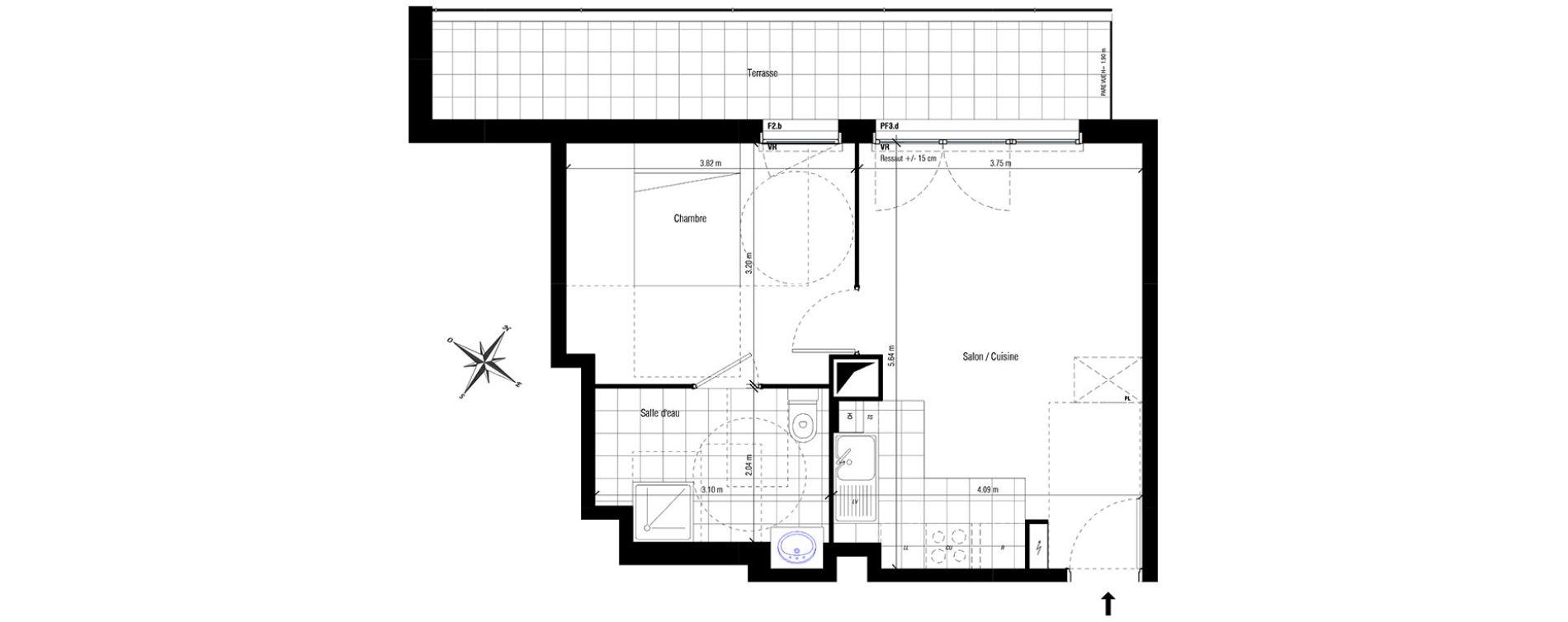 Plan T2 neuf aux Pavillons-sous-Bois de