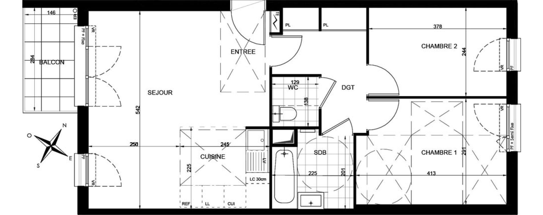 Appartement T3 de 60,48 m2 à Livry-Gargan Centre
