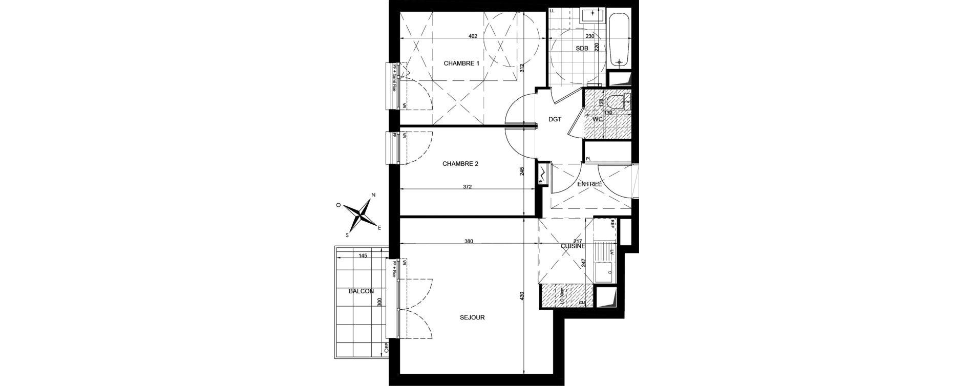 Appartement T3 de 56,63 m2 à Livry-Gargan Centre