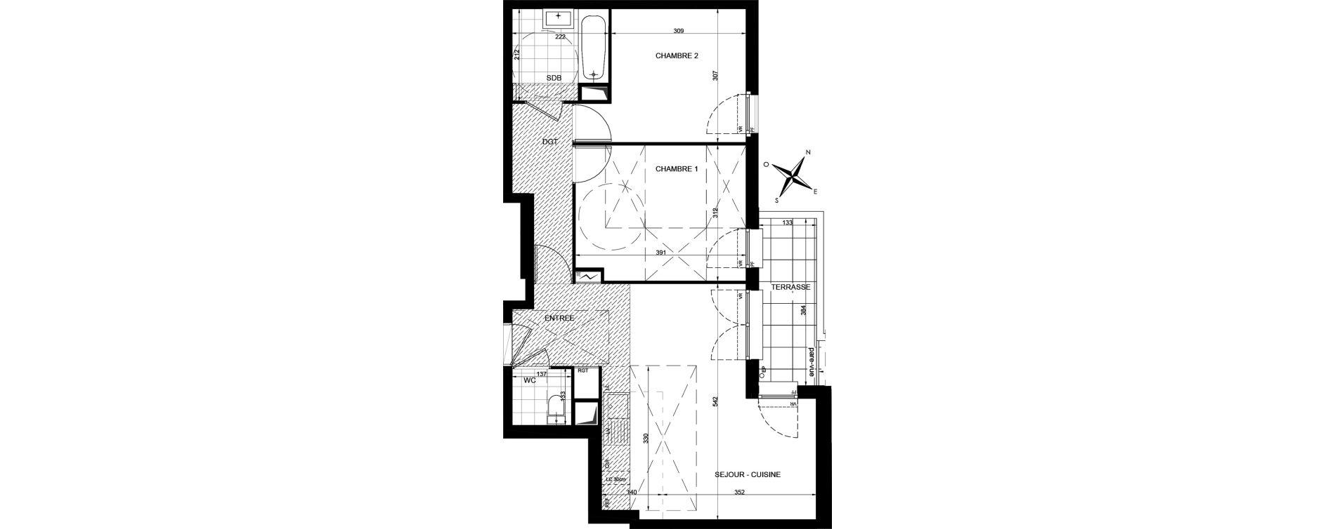 Appartement T3 de 59,23 m2 à Livry-Gargan Centre