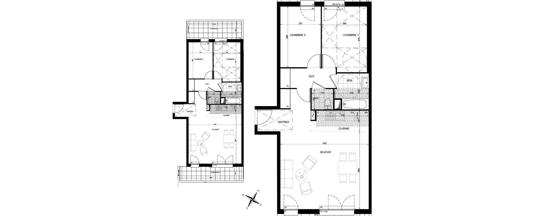 Appartement T3 de 71,17 m2 à Livry-Gargan Centre