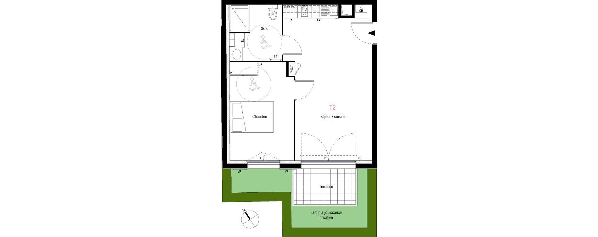 Appartement T2 de 41,92 m2 à Livry-Gargan L'abbaye