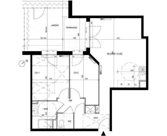 Appartement t3 livry gargan n 123 sud ouest for Achat maison essonne