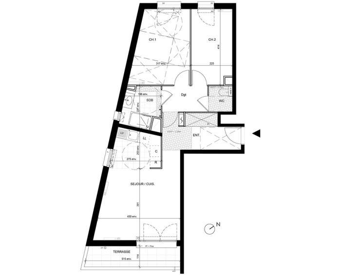 Appartement t3 livry gargan n 127 sud est for Achat maison essonne