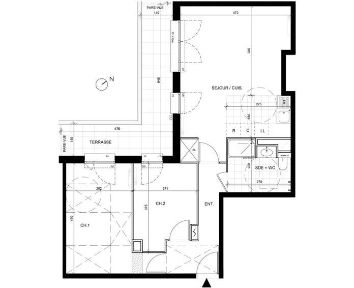 Appartement t3 livry gargan n 245 sud ouest for Achat maison val d oise