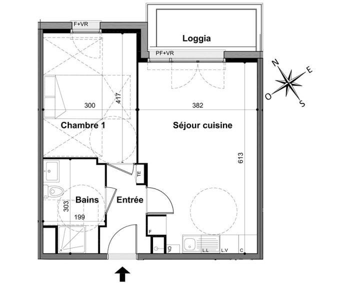 Plan T2 neuf à Livry-Gargan de