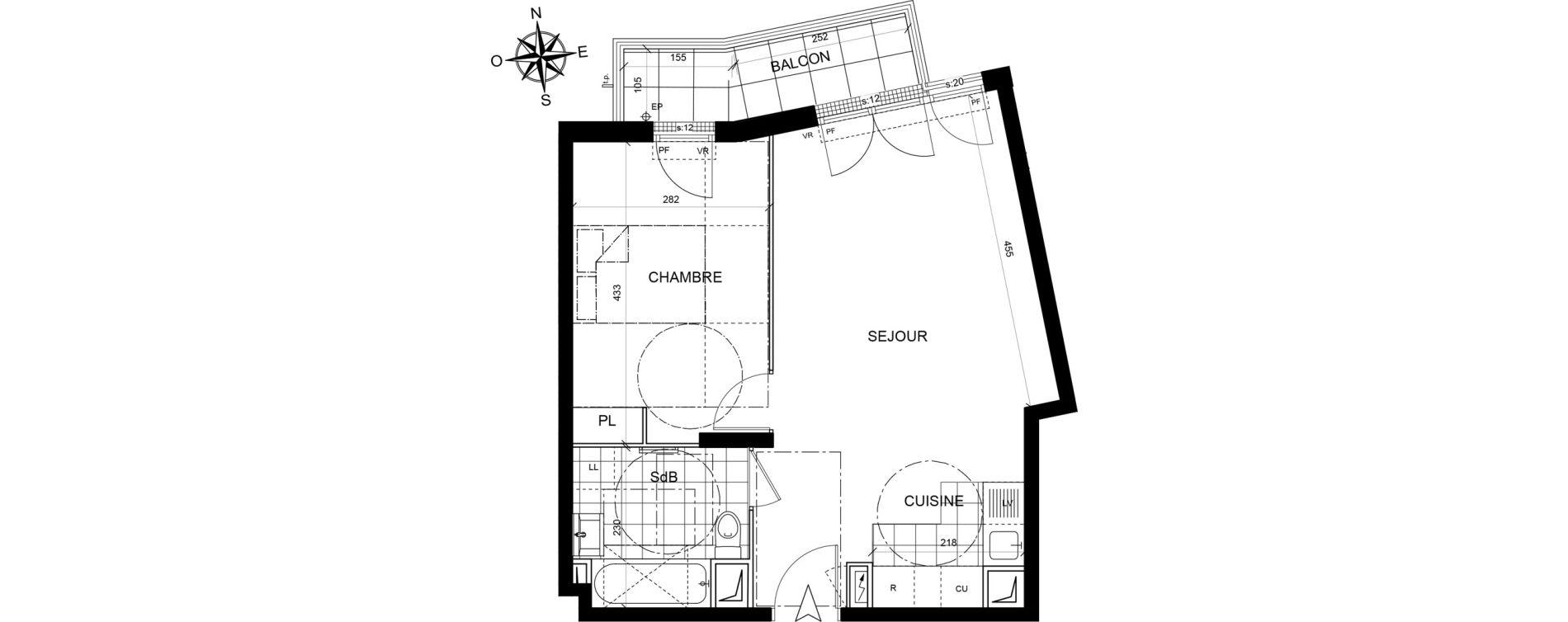 Appartement T2 de 44,30 m2 à Livry-Gargan Centre