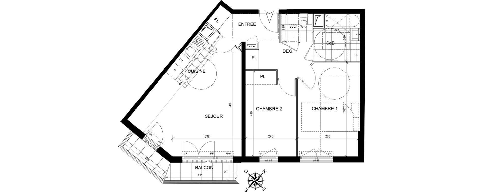 Appartement T3 de 60,99 m2 à Livry-Gargan Centre