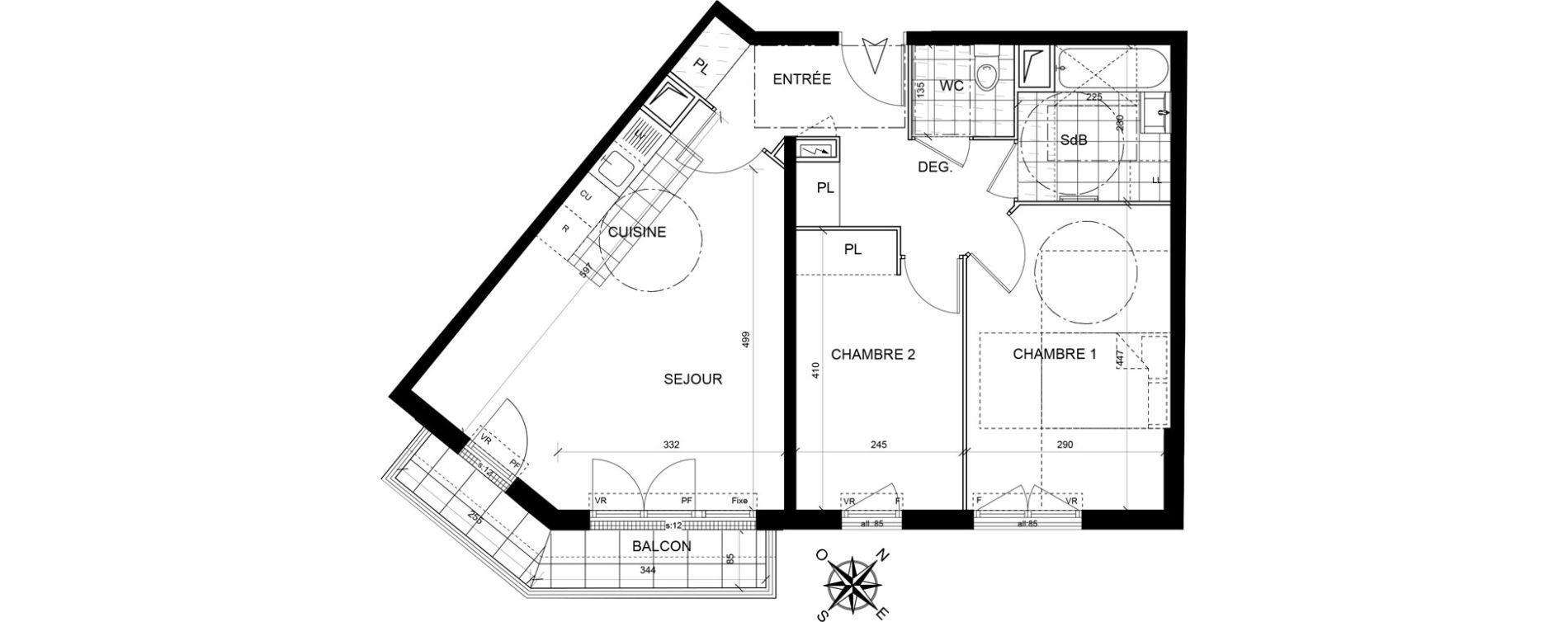 Appartement T3 de 60,35 m2 à Livry-Gargan Centre