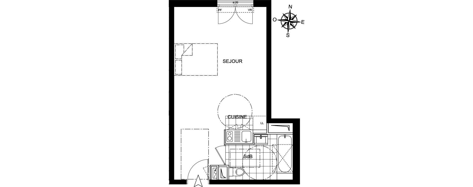 Studio de 32,34 m2 à Livry-Gargan Centre